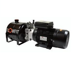 UP100 415 VAC 50HZ 3 Phase Single Acting Manual Lever Operated Hydraulic Power unit, 1.68 L/min, 5L Tank