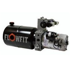UP100 12V DC Double Acting Solenoid Operated Hydraulic Power unit, 3.7 L/min, 5L Tank