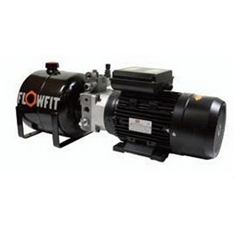UP100 415 VAC 50HZ 3 Phase Double Acting Manual Lever Operated Hydraulic Power unit, 1.68 L/min, 5L Tank