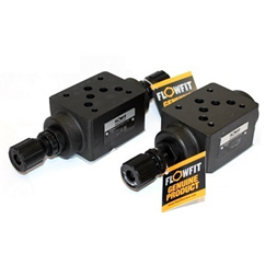 Flowfit hydraulic cetop 5 modular flow control valve, meters out on Port A