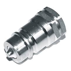 Hydraulic ISO A quick release coupling, Male, 1/4   BSP