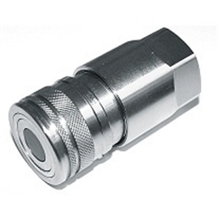 Hydraulic flat face quick release couplings Female 1/4  BSP, DN04, ISO 6.3, 400 Bar rated, 12 L/min