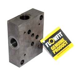 Flowfit hydraulic cetop 5 subplate with side entry 1/2
