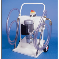 Super deluxe portable hydraulic filtration unit, HFT620-2-2-MS060-SP010-B, 25 l/min, 240Vac
