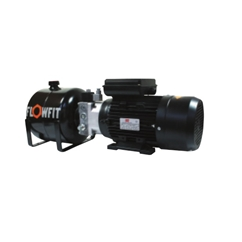 UP100 415V AC 50HZ 3 Phase Single Acting Solenoid Operated Hydraulic Power unit, 1.68 L/min, 5L Tank