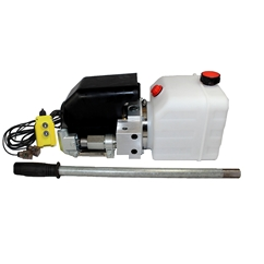 Flowfit 24V DC Single Acting Hydraulic Power pack with 4.5L Tank & Back up handpump ZZ005134
