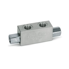 Hydraulic double pilot operated check valve, VBPDE 1/4 L