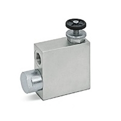 Hydraulic 3 port flow control valve with excess back to tank RFP3, 3/8  BSP