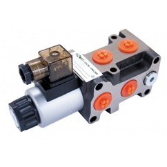 Flowfit 6 Way Hydraulic Solenoid Diverter, 3/8  BSP Port Size, 12V DC, 50 L/Min Flows