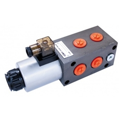 Flowfit 6 Way Solenoid Diverter, 1/2  BSP Port Size, 12V DC, 80 L/Min Flows