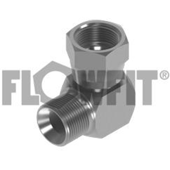 BSP Male Cone Seat x BSP Swivel Femalee 90? Compact Elbow, 1/4   x 1/8