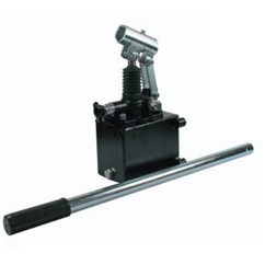 Hydraulic single acting handpump assembly 6 cc with release knob, pressure relief valve 500 Bar rated, 1 litre steel tank and 600mm handlever