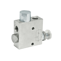 Hydraulic 3 port flow control valve with excess back to tank with check RFP3, 3/8  BSP