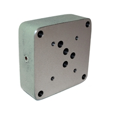 Flowfit hydraulic cetop 5 subplate with base entry 1/2