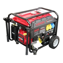 Loncin 6KW Petrol Generator 110V & 240v outputs, wheels LC8000-AD