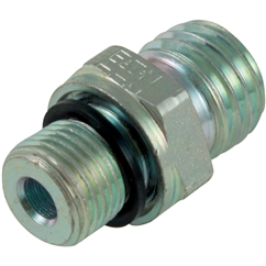 Male Stud Coupling, Light Duty, WD Seal, BSPP. Thread Size 1/8'', OD 6mm