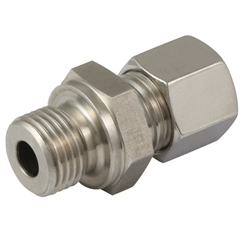 Male Stud Couplings, L Series, Metric Parallel, Form B Sealing, Thread Size M10 X 1, OD 6mm
