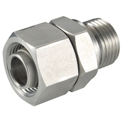 Straight Stud Standpipe for Tube, Tube OD x BSPP, Captive Seal, OD 6mm x 1/8'', L Series