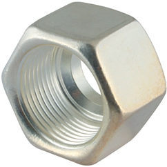 Silver Plated Stainless Steel Nuts (AGP), M24 X 1.5, hose OD 16mm