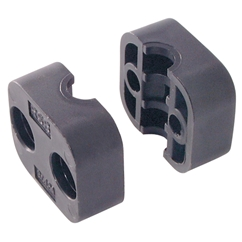 Series A Light Duty Clamp Halves, Single PolymIDe 6 (Fire Retardant), Outside Diameter: 20mm