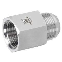 Stainless Steel Female Stud Coupling, Male UNF x Female BSPP, UNF 7/16'' - 20 x 1/8'' BSPP