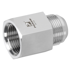 Stainless Steel Female Stud Coupling, Male UNF x Female BSPT, UNF 7/16'' - 20 x 1/8'' BSPT