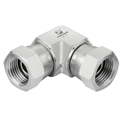 Stainless Steel Swivel Elbows, Equal Female, UNF 7/16'' -20