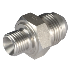 Male x Male Straight Adaptors, BSPP x JIC, Thread Size A 1/8'', Thread Size B 7/16