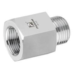 Male x Female Straight Adaptor, BSPP x BSPP, BSPP Male 1/8'' x 1/8'' BSPP Female