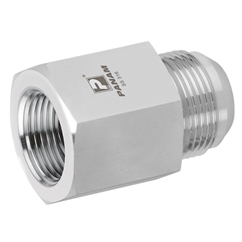 Male x Female Straight Adaptors, JIC x NPT, Male Thread Size 7/16'' -20, Female Thread Size 1/8''