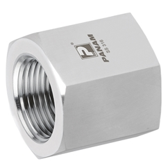 Stainless Steel Female x Female Straight Adaptor, Fixed, NPT 1/8'' x 1/8'' NPT