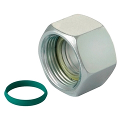 Eaton Walterscheid Walring Nuts C/W Profile Ring & O-Ring, Light Duty NBR, Thread Size M12 X 1.5, OD 6mm