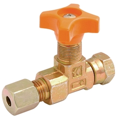 LHA In-line Isolator Needle Valve, 1/4   Female Swivel BSPP x Female Swivel BSPP, Outside Diameter of Stem in Millimetres: M15 x 1