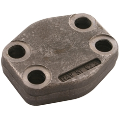 Closed Flanges, 1/2  Flange Size, Bolt Size: M8 x 30
