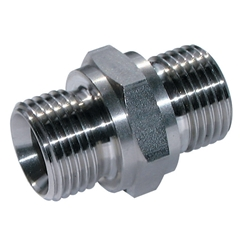 Stainless Steel, BSP Male x BSP Male, 1/8  x 1/8