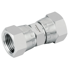 Stainless Steel, BSP Swivel Female x BSP Swivel Female, 1/4  x 1/4