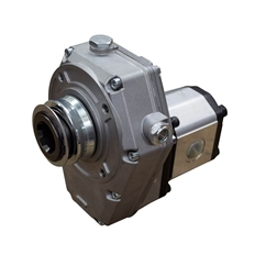 Flowfit Group 2, Aluminium Hydraulic PTO Gearbox and Pump Assembly, 4cc, 6.48 L/Min, 3.56 kW Output