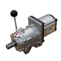 Flowfit Group 2, Hydraulic Mechanical Clutch and Pump Assembly, 14cc, 25.2 L/Min, 1800RPM