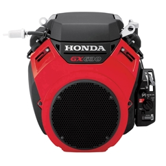 Genuine Honda 20.8 HP Twin Engine 4 Stroke OHV Air Cooled Petrol Engine, Electric Start, Horizontal Mount (Red)