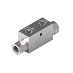 GL Stainless Steel Pilot Operated Check Valve, Double Acting, 1/4  BSP without Seal On Pilot Piston