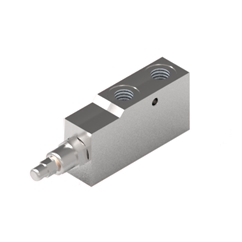 GL Stainless Steel Single Pilot Assisted Overcentre Valve, 3/8  BSP Ports, 30-210 Bar Pressure