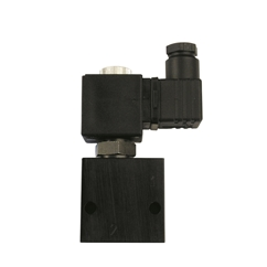 2 Way 2/2 Poppet Type Solenoid Valve, Normally Closed, 12 VDC 1/4  BSP