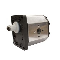 Flowfit Hydraulic Gear Pump, Group 3, 63CC, 62mm Inlet x 51mm Outlet Flanged Ports, 4 Bolt EU Flange