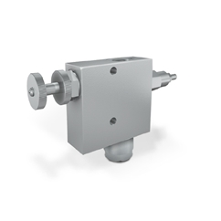 Flow Control Valve Excess to Tank with Relief Valve, 3/8  Ports