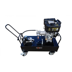 Loncin Diesel Engine Driven, Hydraulic Double Acting Power Unit, 9HP, 17 L/Min, 100L Tank