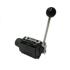 Cetop 5 Manual Operated 3 Position Control Valve, NG10, All Ports Blocked, Spring Return, Handle on A Port Side, DMG-03-3C2-W-A
