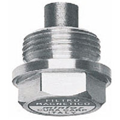 Hydraulic magnetic drain plug with milled head, 1/8  BSP, TSCM/F0G
