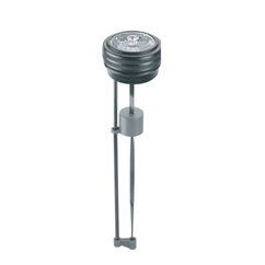 Hydraulic visual level indicator with float system, 2  BSP, L=300, for use with Oil