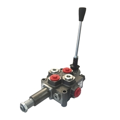 Galtech 1 Bank 3/8  BSP, 40 L/Min, Auto Kick Out Log Splitter Lever Valve