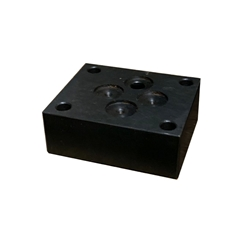 Cetop 3 Blanking Plate with Gauge Port P Line
